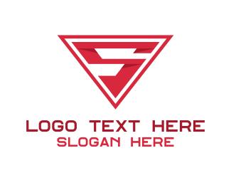 Superhero - Red Letter S logo design