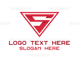 Red And White - Red Letter S logo design