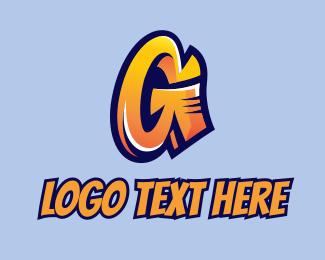 Panel Beater - Urban Graffiti Letter G  logo design