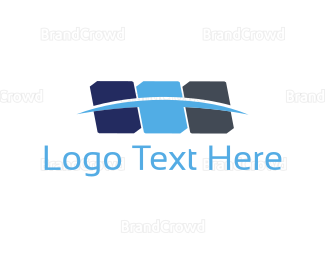 Blocks - Blue Shapes logo design