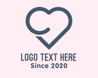 Life - Letter C Heart logo design