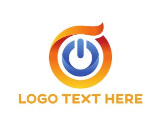 Off - Power Button logo design