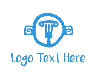 Olive - Greek Fork logo design
