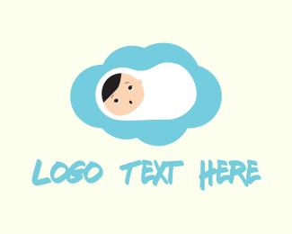 Newborn - Cute Baby logo design