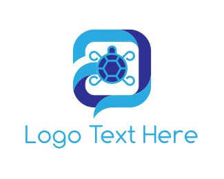 Tortoise - Turtle Chat logo design