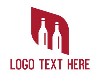 Whiskey - Red Diamond Bottles logo design
