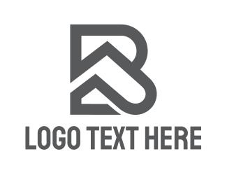 Bp - Grey BP Outline logo design