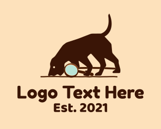 Detective - Sniffing Dog Search logo design