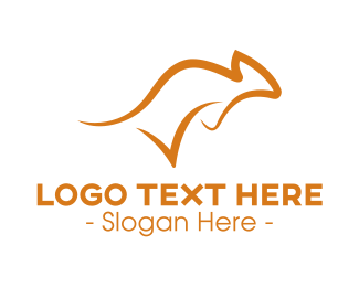 Check Mark - Check Aussie Kangaroo logo design