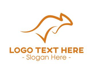 Brushstroke - Check Aussie Kangaroo logo design