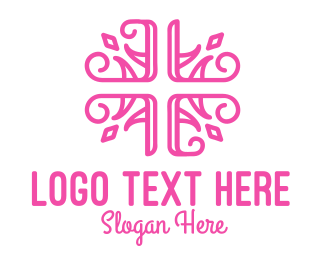 Ornamental - Floral Cross logo design