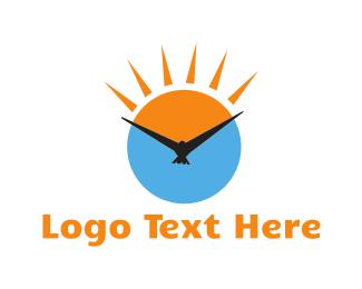 Sunscreen - Bird Clock logo design