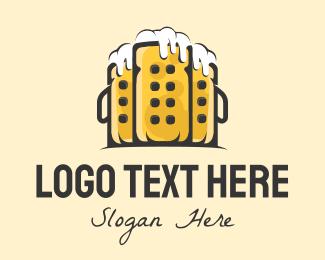 Draft Beer - Beer Towers logo design