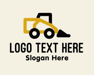 Rental - Monoline Bulldozer Construction Rental logo design