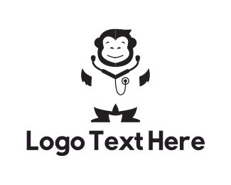 Physician - Monkey Doctor logo design