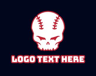 Batter - Baseball Skull logo design