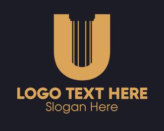 Letter U - Pillar Letter U logo design