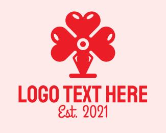 Hand Paint - Red Valentine Heart logo design