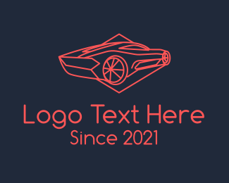 Chassis - Red Sports Car  logo design