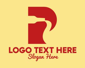 Simple - Letter P Soda Bottle logo design