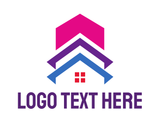 Bed And Breakfast - Colorful Building House  logo design