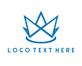 Event - Blue Crown logo design