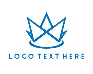 Shopify - Blue Crown logo design