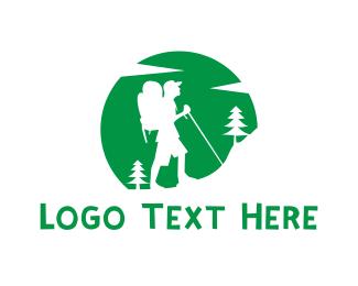 Man - Mountain Hiker logo design