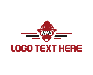 Gas Mask - Firefighter Fireman Mask logo design