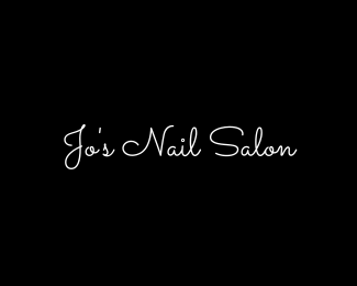 Nail salon wordmark logo