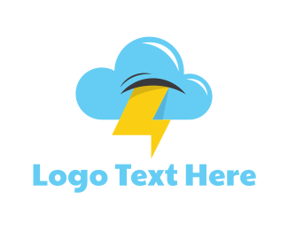 Weather - Stormy Cloud logo design