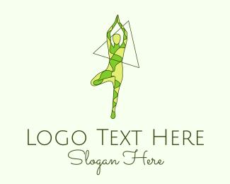 Gymnast - Nature Yoga logo design