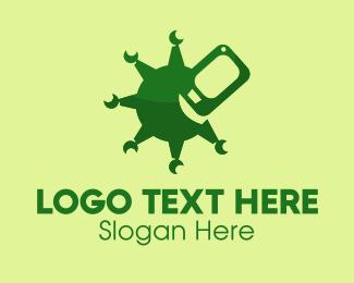 Cellular - Mobile Phone Virus  logo design