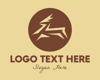 Gazelle - Brown Gazelle logo design
