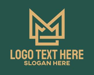 Investment Banking - Crown Letter M  logo design
