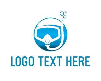 Diving - Diving Mask logo design