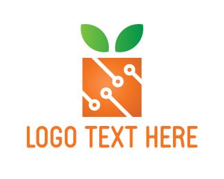 Green And Orange - Square Orange logo design