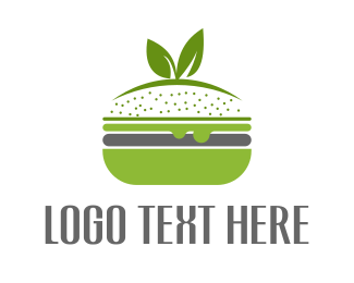Burger - Veggie Burger logo design