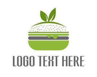 Burger Bar - Veggie Burger logo design