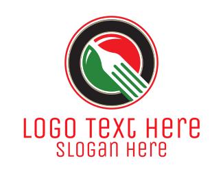 Italian Flag - Italian Fork Restaurant  logo design