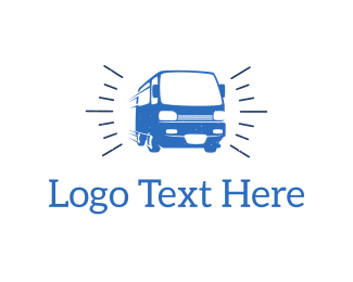 Bus - Blue Van  logo design