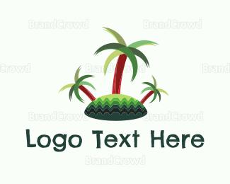 Fiji - Tropical Island logo design