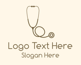 Obstetrician - Brown Stethoscope logo design
