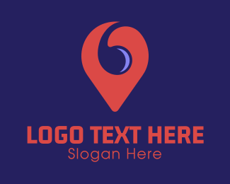 Pinterest - Spiral Location Pin logo design
