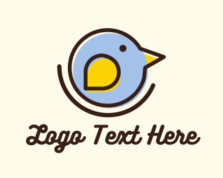 Boutique - Round Little Bird logo design