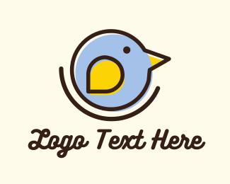 Pigeon - Round Little Bird logo design