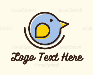 Bird - Round Little Bird logo design