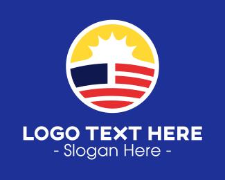 Government - Sunny American Symbol logo design