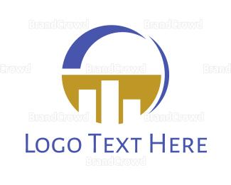 Table - Modern Circle Statistics  logo design