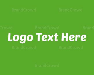 Typography - Modern Green & White logo design